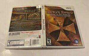 Broken Sword (Nintendo Wii, 2009) COMPLETE W/MANUAL FAST SHIPPING TEEN UBISOFT