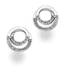 Orecchini con diamanti bottoni argento sterling