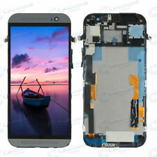 For HTC One M8 Black LCD Display Touch Screen Digitizer Replacement +Frame RE0