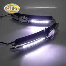 LED daytime running lights for Audi A6 C6 2005-2008 Fog lamp cover DRL
