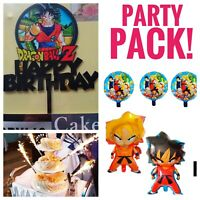 dragon ball z birthday party Balloons Pack Cake Topper Candles FREE SHIPPING!
