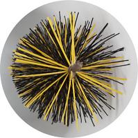 "CFC051 10"" dia  25cm L Polypropylene/Steel strap Professional Flue Brush; Black"
