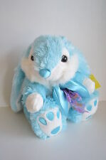 "NW PLUSH EASTER Blue BUNNY Ears Large 10"" WHITE Collect TOY Rabbit Gift SOFT"