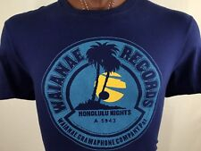 Waianae Records Honolulu Nights Purple Graphic T Shirt 100% Cotton L Large