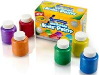 NEW 6 PACK CRAYOLA WASHABLE OFF CLOTHES KIDS PAINT SET METALIC COLORS NON-TOXIC