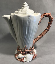 Pv05284 Vintage Fitz & Floyd Seashell Oceana Coffee Pot