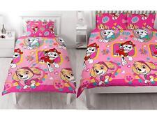Paw Patrol Forever Double Duvet Cover Set Girls Kids Pink Bedding 2 in 1 Design