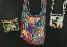 Embroidered Bags, Lot of 3/ Cross Body & Coin Purses / Multi-cultural