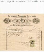 Dépt 17 - La Rochelle 42 Rue St Yon - Belle Entête d'un Bijoutier du 09/09/1892