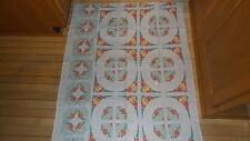 Vintage Feed Sack Fabric FRUIT & FLORAL DESIGN TO MAKE PLACEMATS & NAPKINS