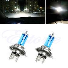 2pcs H4 55W Halogen Light Bright White Car Headlight Bulbs Bulb Lamp 12V 5000K
