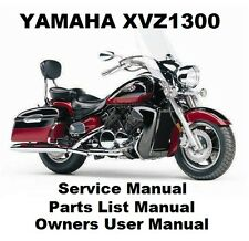 YAMAHA XVZ1300 ROYAL STAR VENTURE Owners Workshop Service Parts Manual PDF CD-R