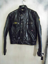 BELSTAFF FAUX LEATHER POLYVINYL COUGAR MOTORCYCLE JACKET SIZE L