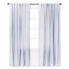 Threshold Blue Stripe One Window Panel ~ 54×84 ~ Blue White Vertical Stripes