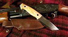 Helle Norway Utvaer Wood Handled Fixed Blade Leather Sheath outdoors backwoods