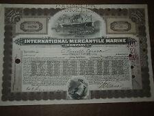 1918 International Mercantile Marine Liner Titanic White Star condividere ANTICHI
