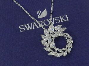 Swarovski  Louison Pendant, White, Rhodium plated