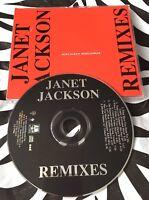 Janet Jackson - REMIXES Rare 8 Track PROMO CD