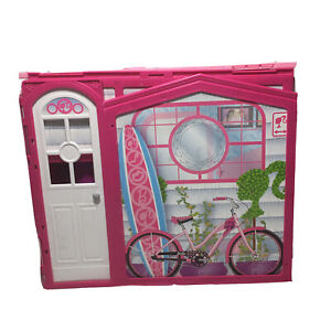 Mattel Barbie Glam Vacation Beach House With Pink Bike USED Good Condition