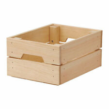 IKEA KNAGGLIG Wooden Pine Storage Box Crate Ideal for Bottle Can 23x31cm UK-B786