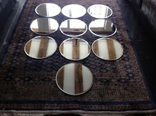 Wedding table centre mirrors with bevelled edges 30cm diameter (collection only)