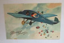 """""""Neujahr, Flugzeug, Kinder, Sekt, Rosen"""" 1931 ♥ (26550)"""