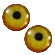 Pair of 25mm Flamingo Bird Glass Eyes, Jewelry Making Crafts Taxidermy Art Dolls