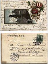 1905 BREMEN Präge Lithographie Litho-AK Wappen & Roland nach LAAGE (A-Stempel)