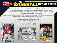 GROUP BREAK- 2020 TOPPS UPDATE HOBBY BOX BREAK- 1 Random Team (auto / relic)
