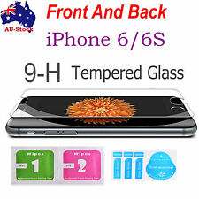 front and back Tempered Glass Screen Protector Film Guard for iPhone 6s 6