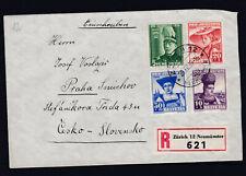 Pro Juventute 1939 auf Reco Brief gelaufen in die Tschechoslowakei