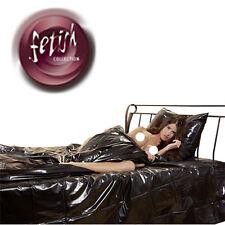 250465 Telo Copriletto in PVC Lucido Lucido Matrimoniale 230 x 200 NERO FETISH