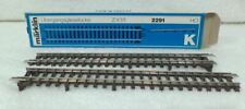 Marklin 2 x 2291 rechte K ovegansrail 180 mm voor K naar M rails bl
