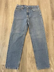 VINTAGE 90's Levi's 555 Relaxed Fit Straight Leg Blue Denim Jeans Size 36x34