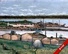 FORT SIMPSON BRITISH COLUMBIA CANADA EARLY 1900'S PAINTING ART REAL CANVAS PRINT
