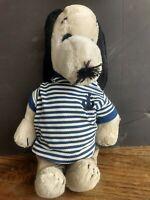 "Vintage 1968 plush 20"" cartoon Peanuts Snoopy & preppy sailor khaki clothes"