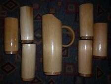 1950s AUSTRALIAN BAMBOO 7  PIECE WATER SET GREAT CONDITION