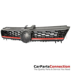 Front Bumper GTI Style Mesh Grille Black Red Trim w Badge slot VW Golf 15-16 MK7