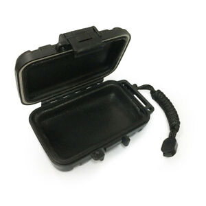 IEM Storage Case Drop Resistance Protective Box for Earphone (Solid Black)