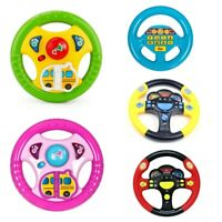 STEERING WHEEL GAME TOY INFANT PRETEND BABY CHILDREN KID BACKSEAT CAR FLASH NEW
