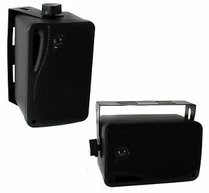 "Pyle PLMR24 3.5"" 200W 3-Way Marine Audio Speakers Outdoor Weatherproof (Pair)"