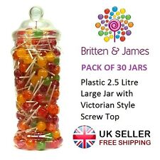 30 x Large Plastic Jars Vintage Victorian Wedding Party Sweet Buffet Candy Shop