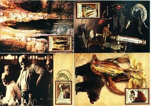 Romania 2007 E.Racovita  Microscope,Cave Bear,Olm,Insect,rare official maxi card