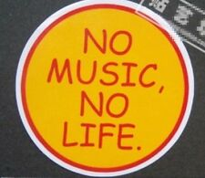 NO MUSIC NO LIFE Guitar Rock Music Computer PVC Waterproof Sticker SM8-WALLS072