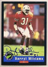 Darryl williams signed autographed Football card