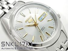 New Seiko 5 Automatic Stainless Steel Day Date White Dial SNKL17K1 Men's Watch