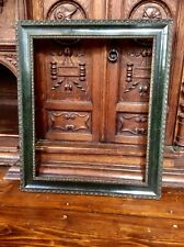 ANTIQUE SUPERB LATE 19thC GILT GESSO & MARBLED GREEN PICTURE FRAME,VICTORIAN,OLD