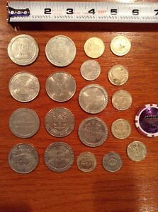 20 total Casino coins or tokens lot, Las Vegas coin, Riverboat Casino, Deadwood