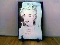 Madonna Sketch Art Portrait on Slate 8x6in rare collectable memorabilia