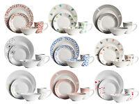 16 Or 32 Piece Large Porcelain Dinner Service Serving Side Plates Bowls Mugs Set